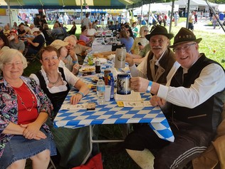 Attendees enjoying German Heritage Fest Erie, PA