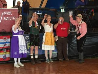 Toasting the Opening Ceremonies at German Heritage Fest Erie, PA